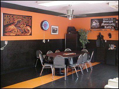 Harley Davidson Decor Ideas Dens | ... Theme Decorations   Flames Bedroom  Decorating