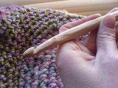 whittling a birch twig crochet hook