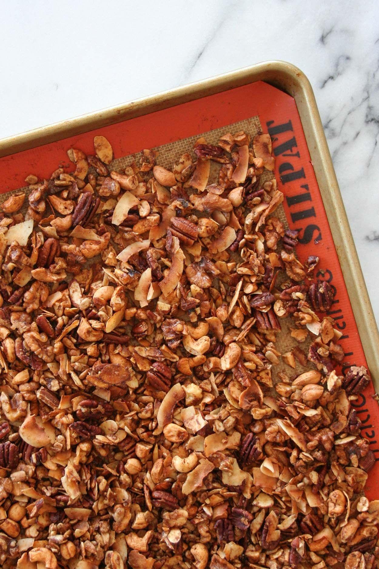 Grain free paleo granola recipe healthy coconut