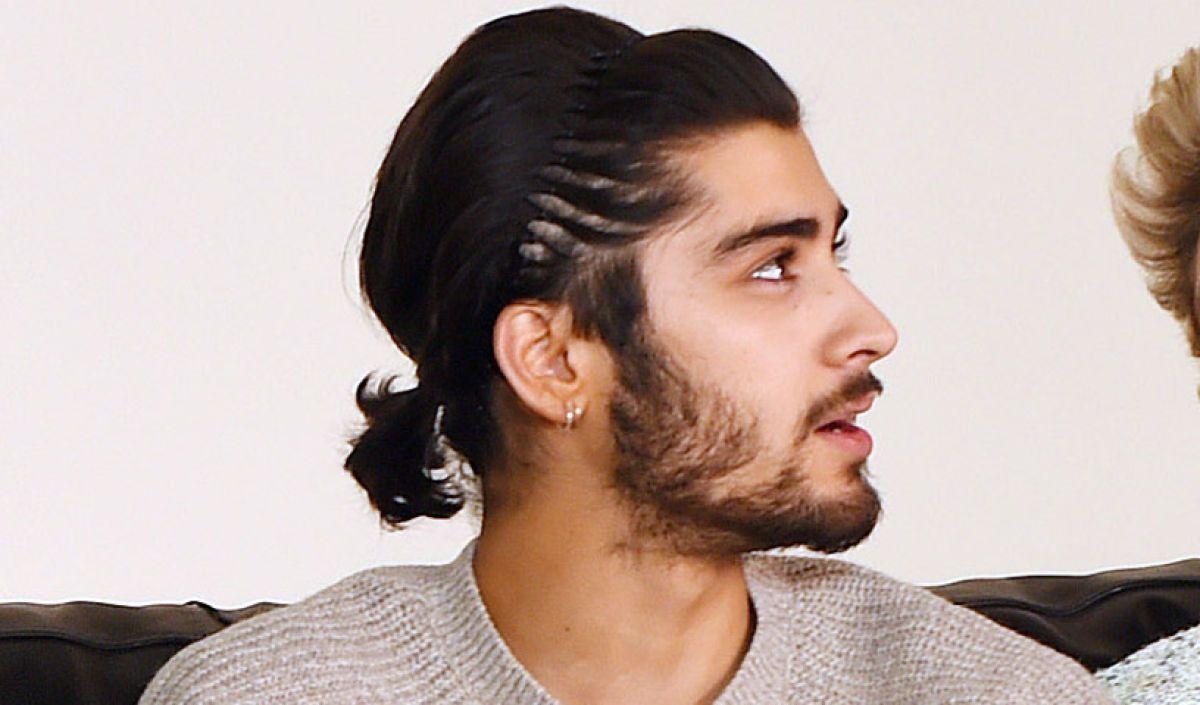 Zayn Malik Ponytail Ponytail Hairstyles For Men Zayn Malik Hairstyle Long Hair Styles Men