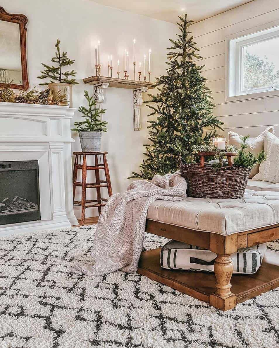 Photo of 30+ Cozy And Wonderful Rustic Farmhouse Christmas Decorating Ideas