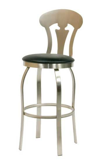 Our metal bar stools are American-made any fully welded at all joints. Choose your seat height, metal finish color, and upholstery pattern colors.