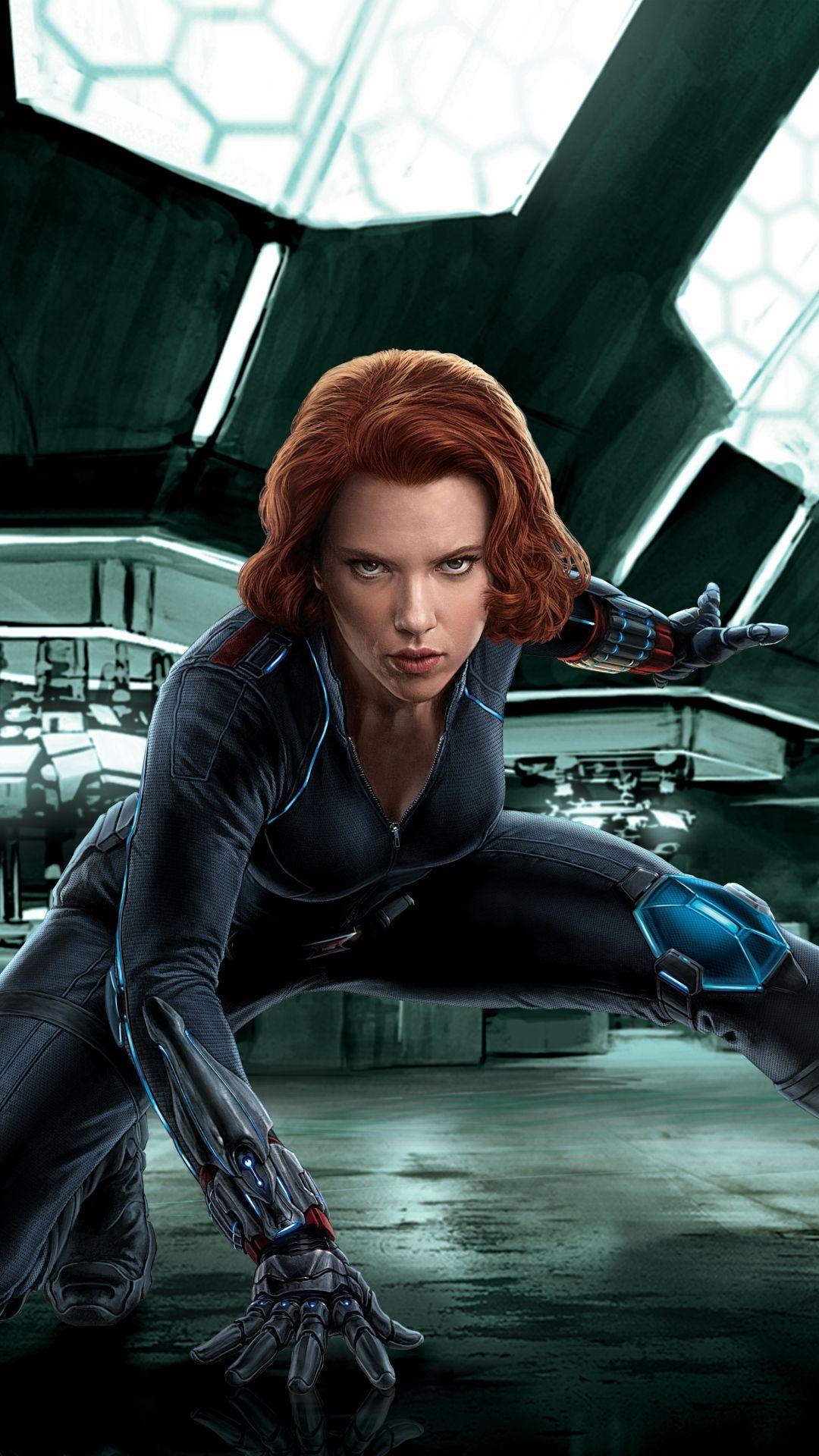 1080x1920 Wallpaper Black Widow Avengers Age Of Ultron Scarlett Johansson