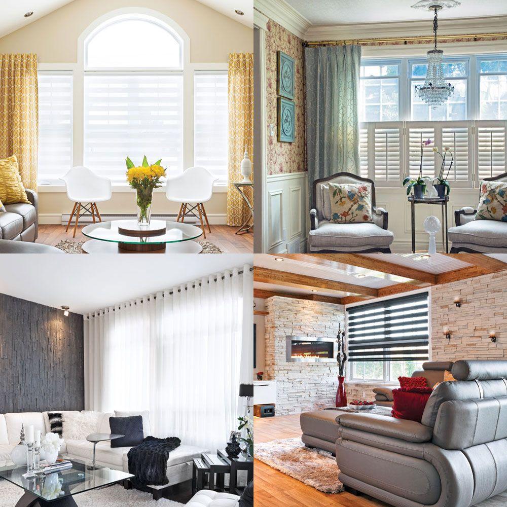 12 idées pour habiller les fenêtres  Décoration rideaux salon