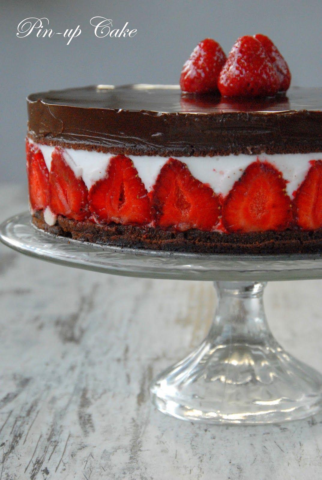 Strawberry Coconut Torte