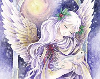 christmas angel art - Google Search | Angels | Pinterest ...