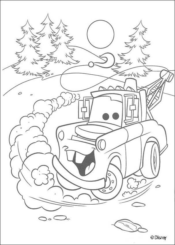 Mater Cars Christmas  School Stuff  Pinterest  Cars Coloring