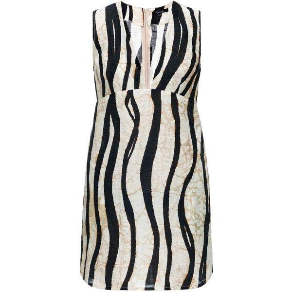 Leka - Zebra Print Mini Dress (\u20ac135) ❤ liked on Polyvore featuring