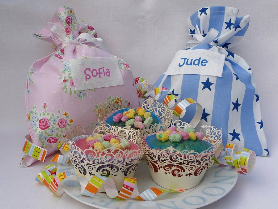 Personalised Childrens Party Gift Bag BagsWedding Favours