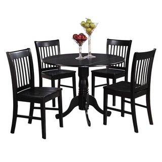 black round kitchen table and 4 dinette chairs 5 piece dining set rh ar pinterest com