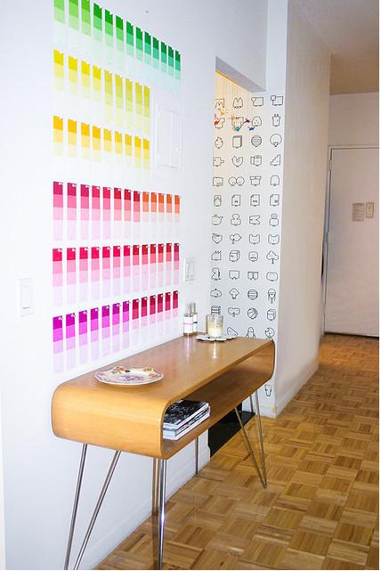 Paint Chip Wall | Little Miss Sofia | Pinterest | Paint chips, Walls ...