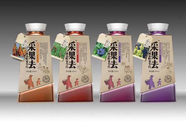 Caiguoqu Wild Juice on Packaging of the World - Creative Package Design Gallery