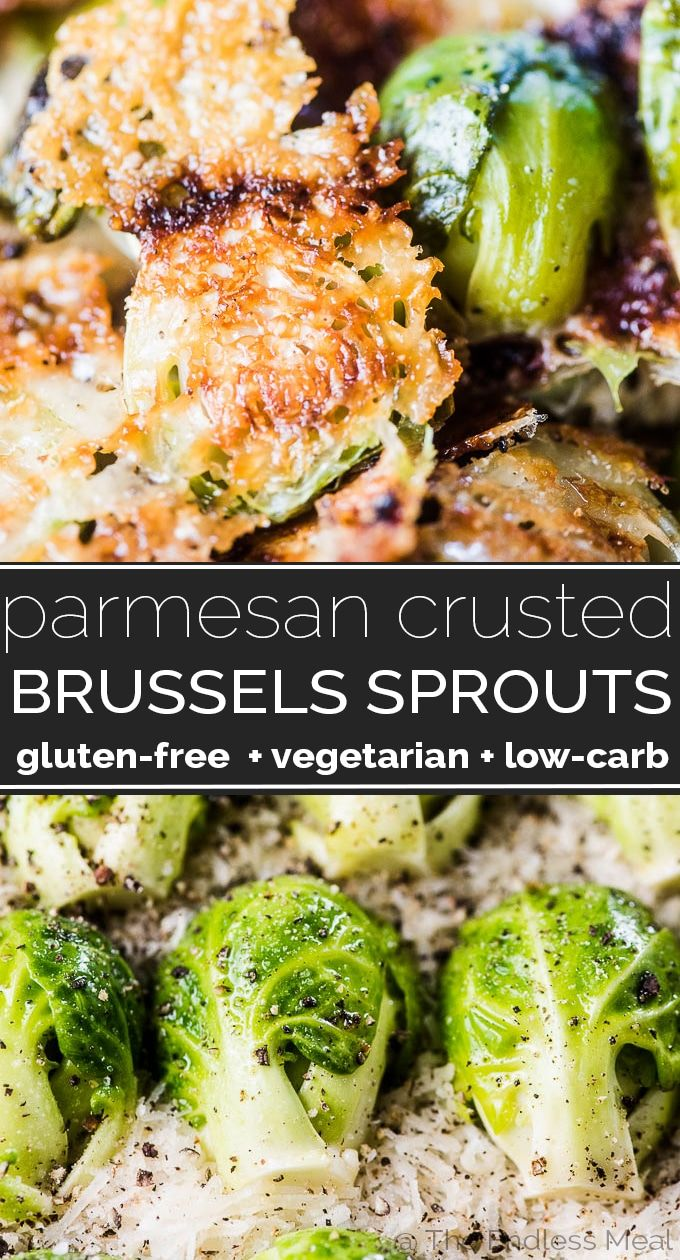 SAVE FOR LATER! Parmesan Brussels Sprouts are THE BEST ever! They're a super easy to make side dish