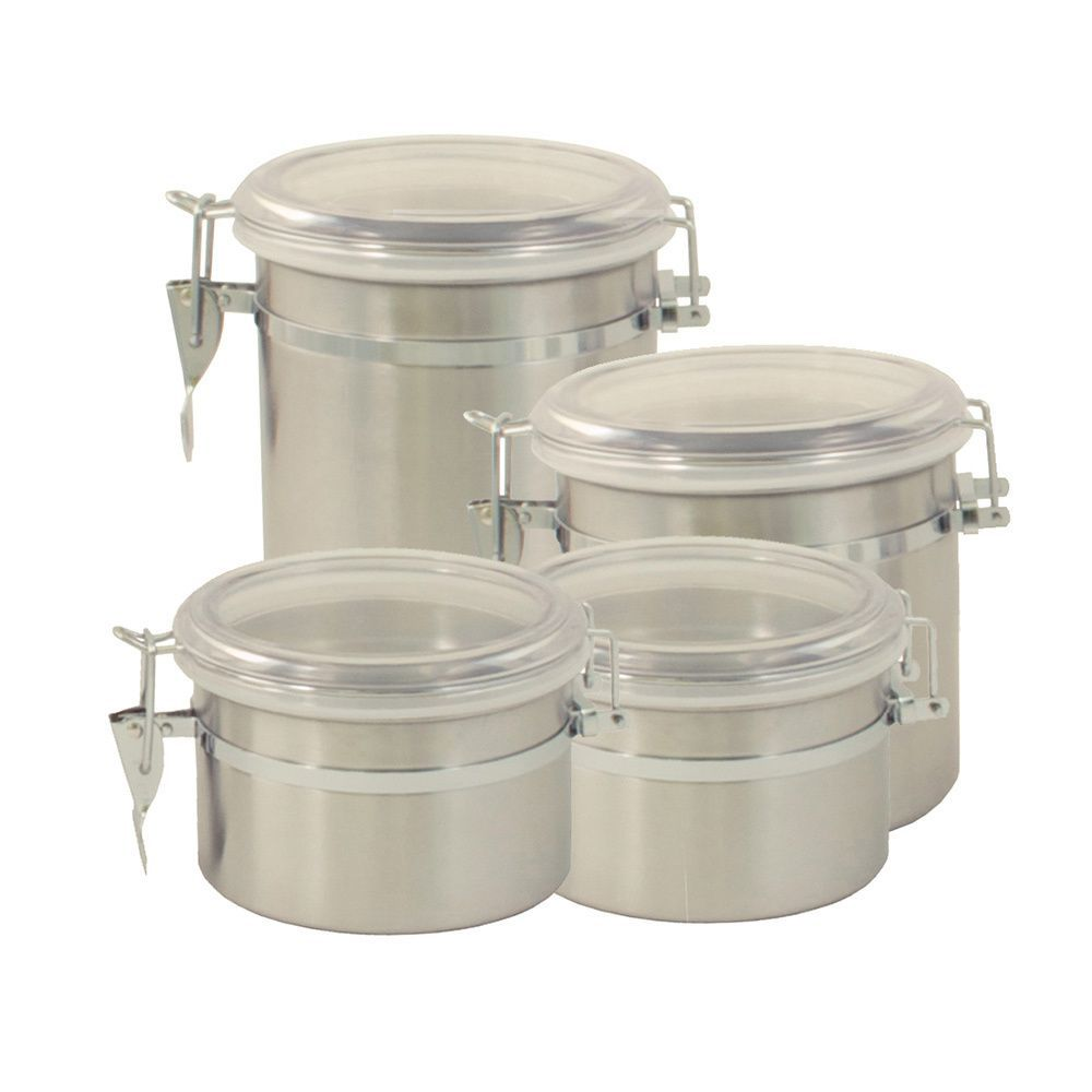 ExcelSteel Stainless Steel 4 Piece Canister Set