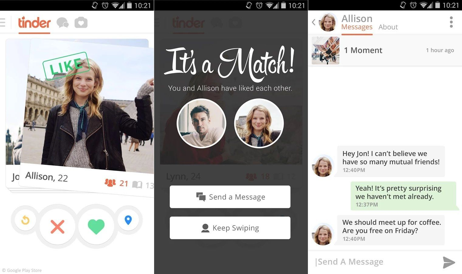 gratis dating app test
