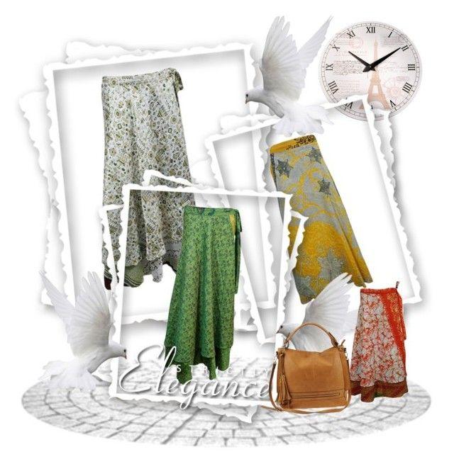 Boho Silk Sari Reversible Wrap Skirts By Boho Chic 2 On Polyvore Featuring  Urban