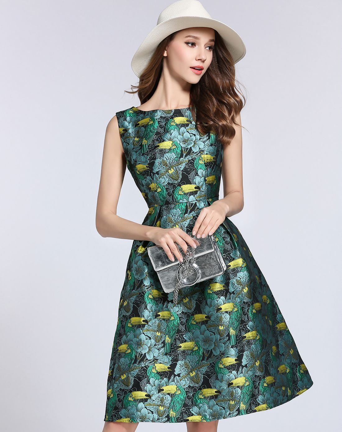 8471f8bfb5d CAGGEEN Pre-sale 9369   2017 new Summer Europe United States famous brand  Long section Women dress Elegant party Jacquard dress