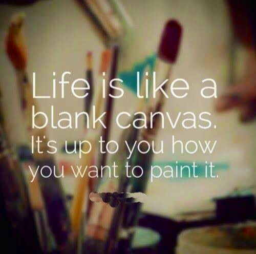 Life Canvas Quote Prepossessing Life Is Like A Blank Canvas  Life  Pinterest  Blank Canvas