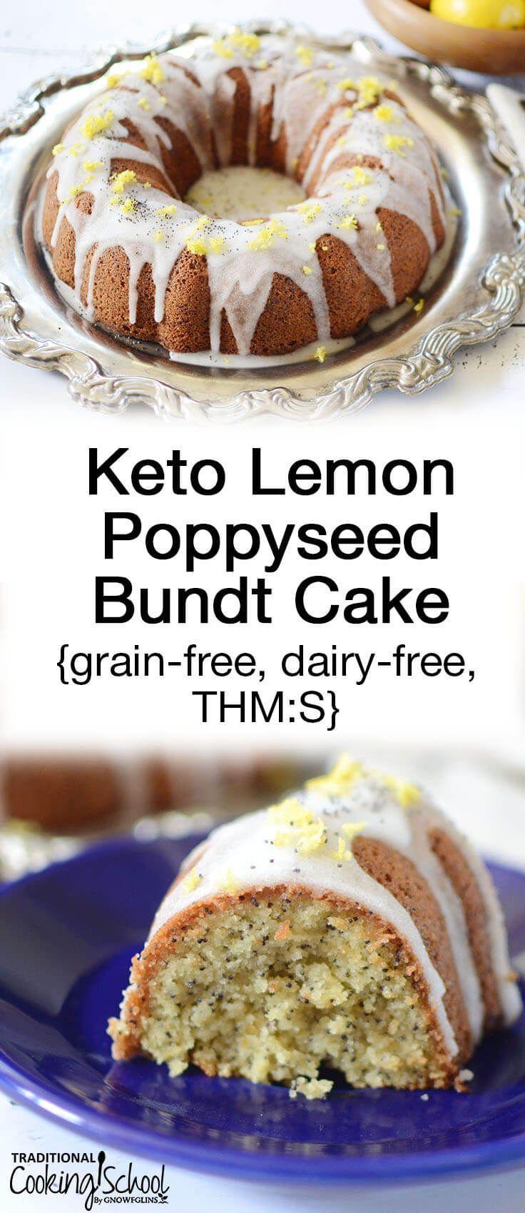 Keto lemon poppyseed bundt cake grainfree dairyfree