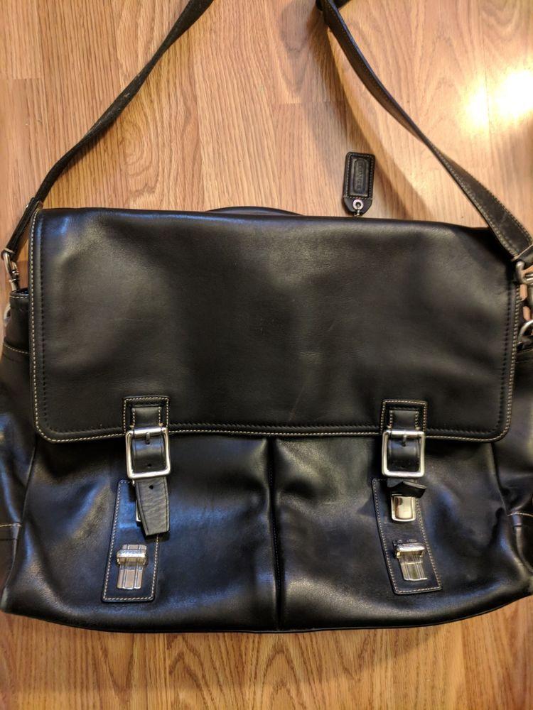 6ac1e03af9 Coach Men s Large Black Leather Business Laptop Shoulder Bag No L  0793-70095  fashion  clothing  shoes  accessories  mensaccessories  bags  (ebay link)