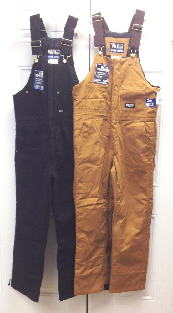 walls insulated bib overalls coverall black brown m 2xl on insulated overalls id=22457