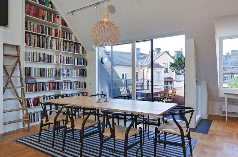 Scandinavian Design: Impressive Attic Penthouse In Östermalm, Stockholm