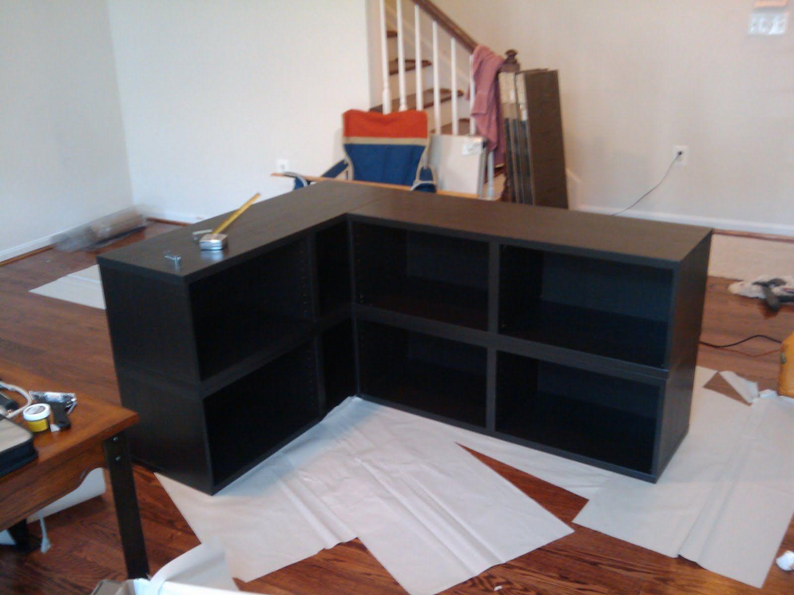 Ikea L-Shaped Dry Bar