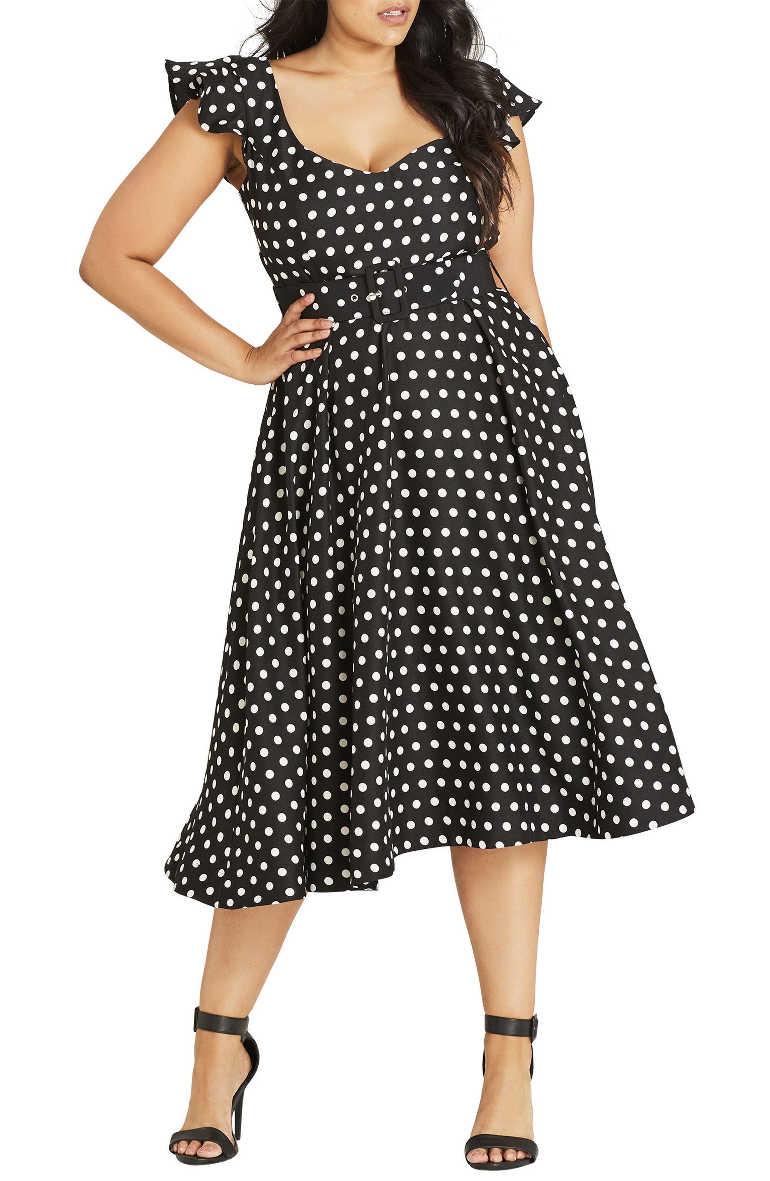 Vintage Polka Dot Dresses - 50s Spotty and Ditsy Prints ...