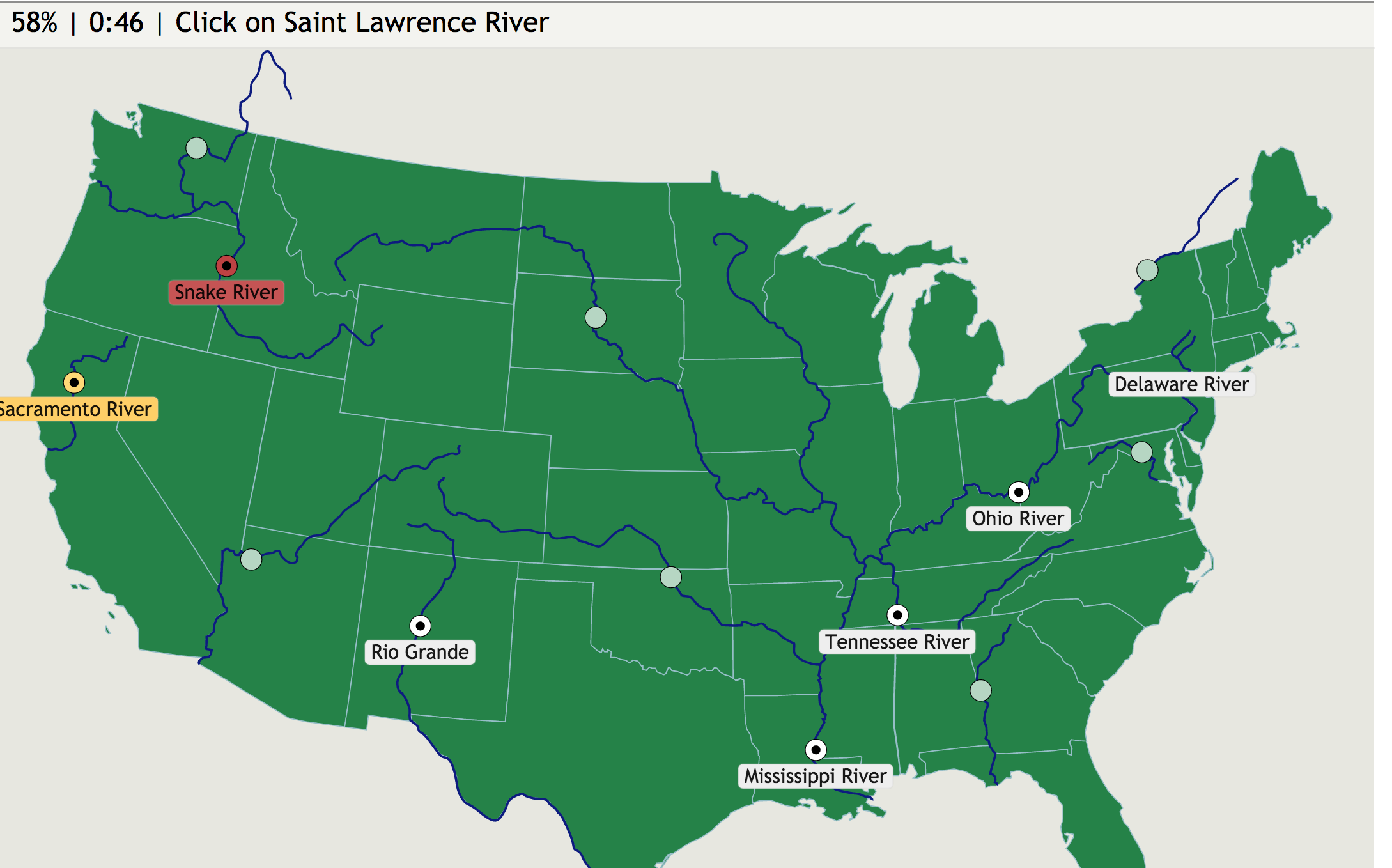 Website Game The Contiguous U S Rivers Ss3g1 Locate