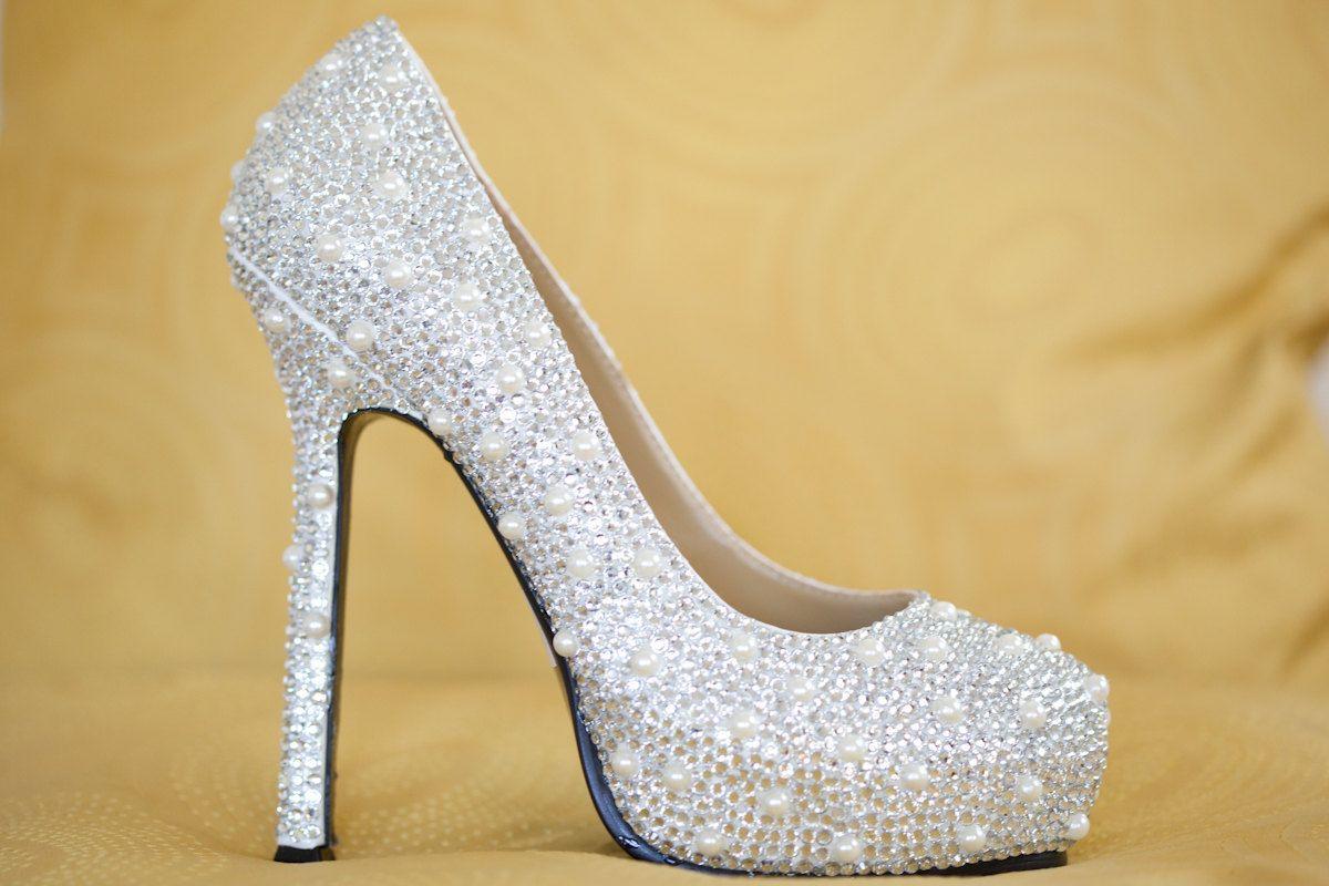 bbb77bd17af4 Swarovski Crystal Wedding Shoes