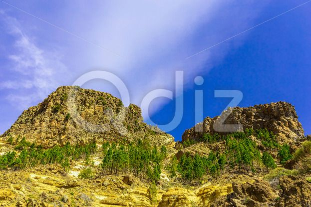 Qdiz Stock Images Mountains on Tenerife Island in Spain,  #blue #Canary #cloud #day #green #island #landmark #landscape #mountain #nature #park #rock #sky #Spain #spring #summer #Tenerife #Travel #view