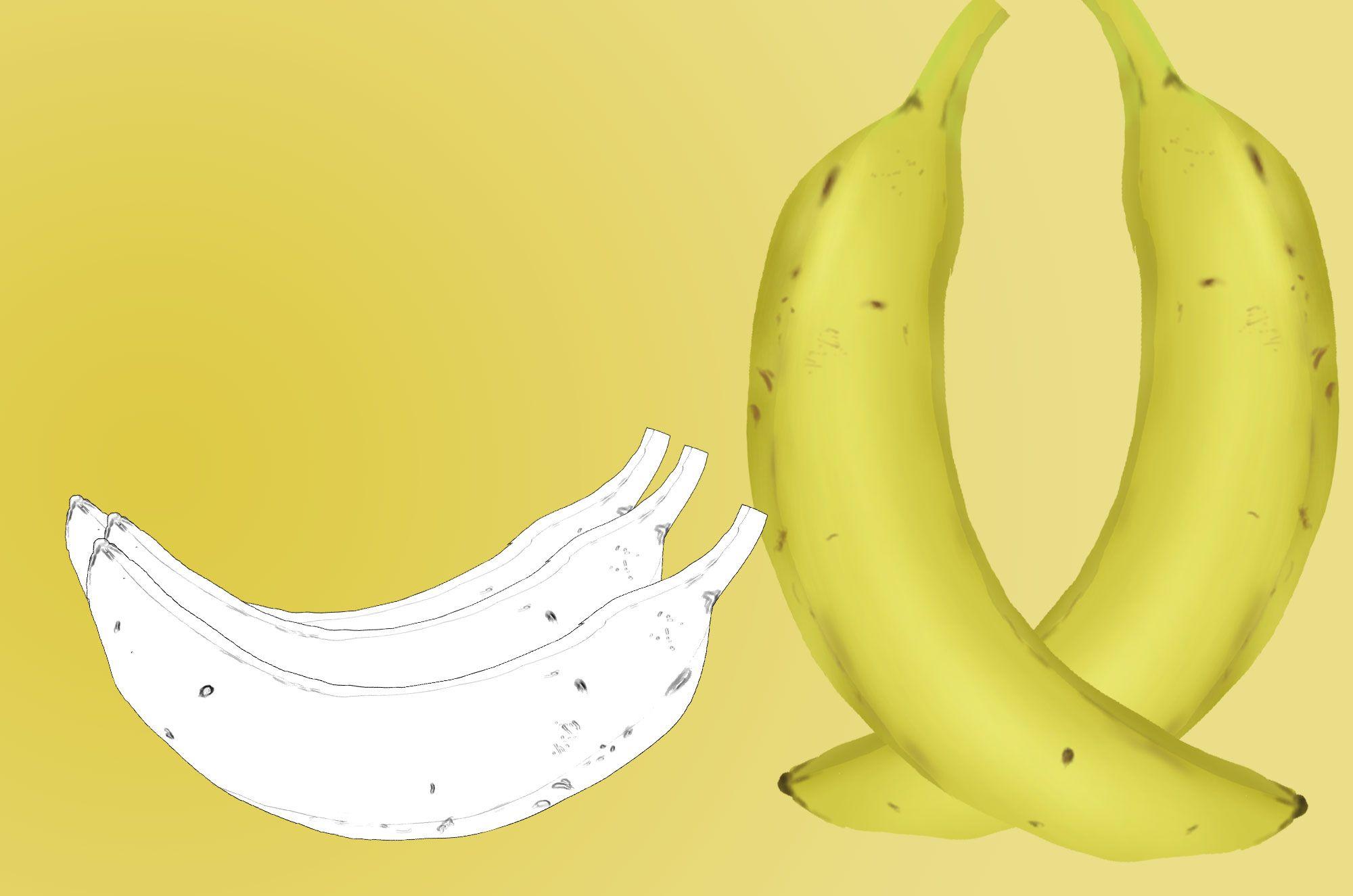 可愛いバナナのイラスト素材集☆もちろん全て無料でご利用できる果物