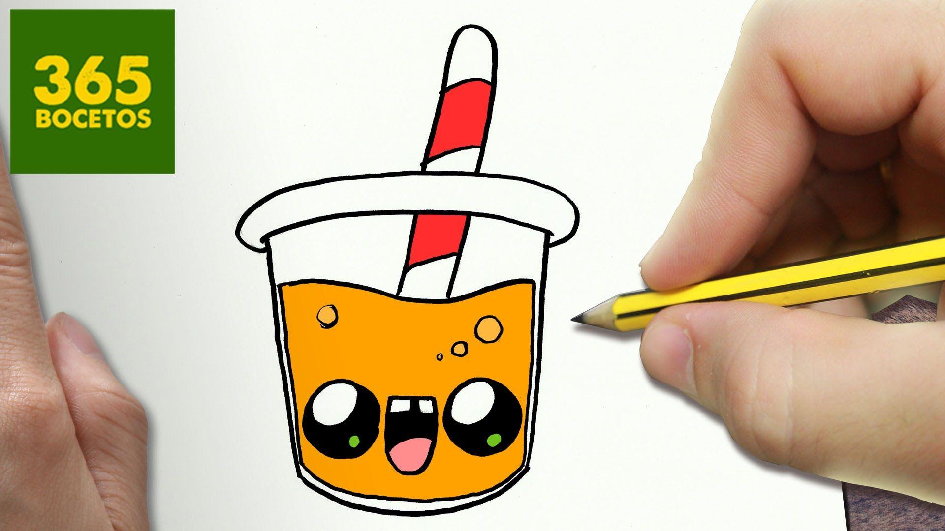 Como Dibujar Zumo De Naranja Kawaii Paso A Paso Dibujos Kawaii