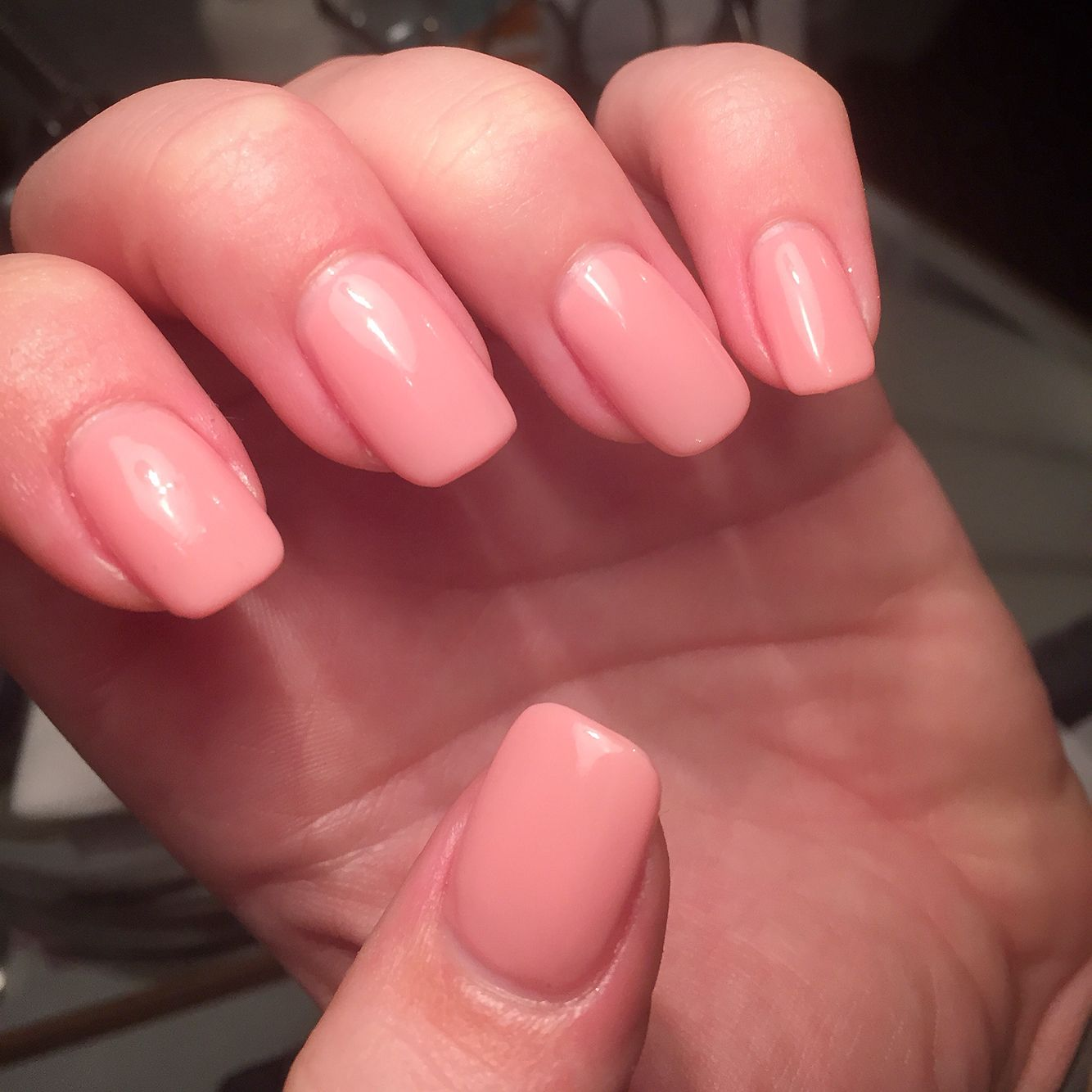 Natural nude acrylic overlay with Ibd gel polish by Caz | Nails ...