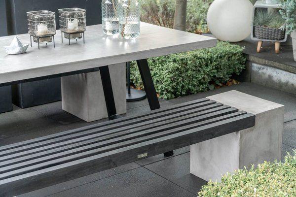 Beton Sitzbank Novum Schwarz In 2020 Terrasse Sitzgruppe