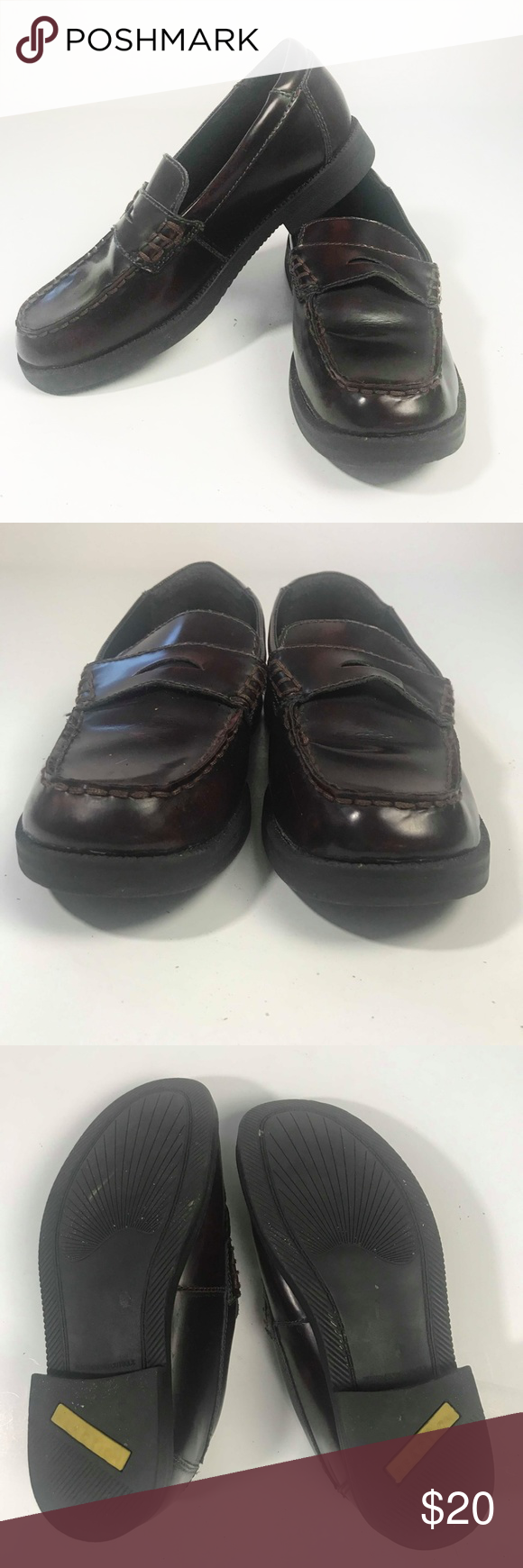 Kenneth Cole Boys Cordovan Penny Loafer Shoe 4.5 | Penny ...