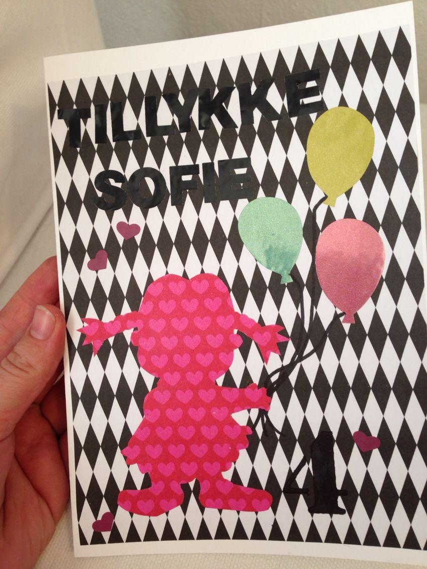 Fødselsdagskort til Sofies 4 års fødselsdag