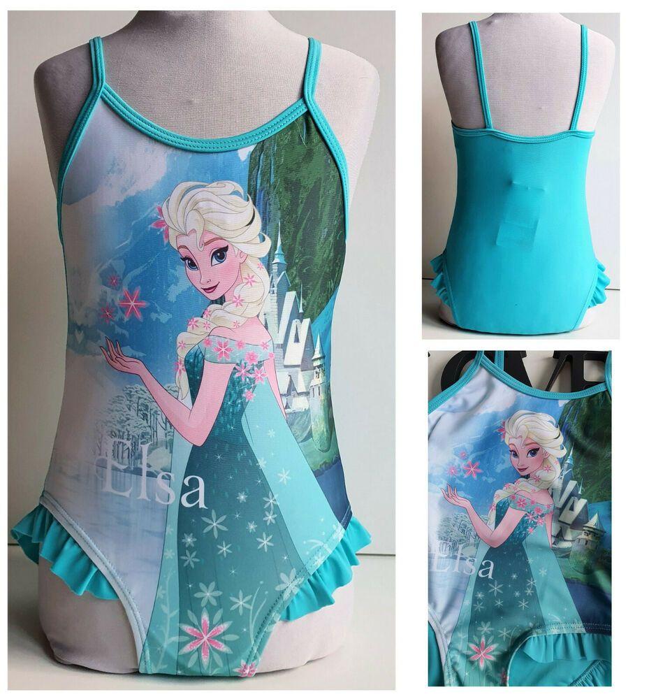 Disney Frozen Elsa Und Anna Die Eiskonigin Kinder Madchen Badeanzug Gr 122 128 In 2020 Kinder Kleidung Kinderkleidung Badeanzug Madchen