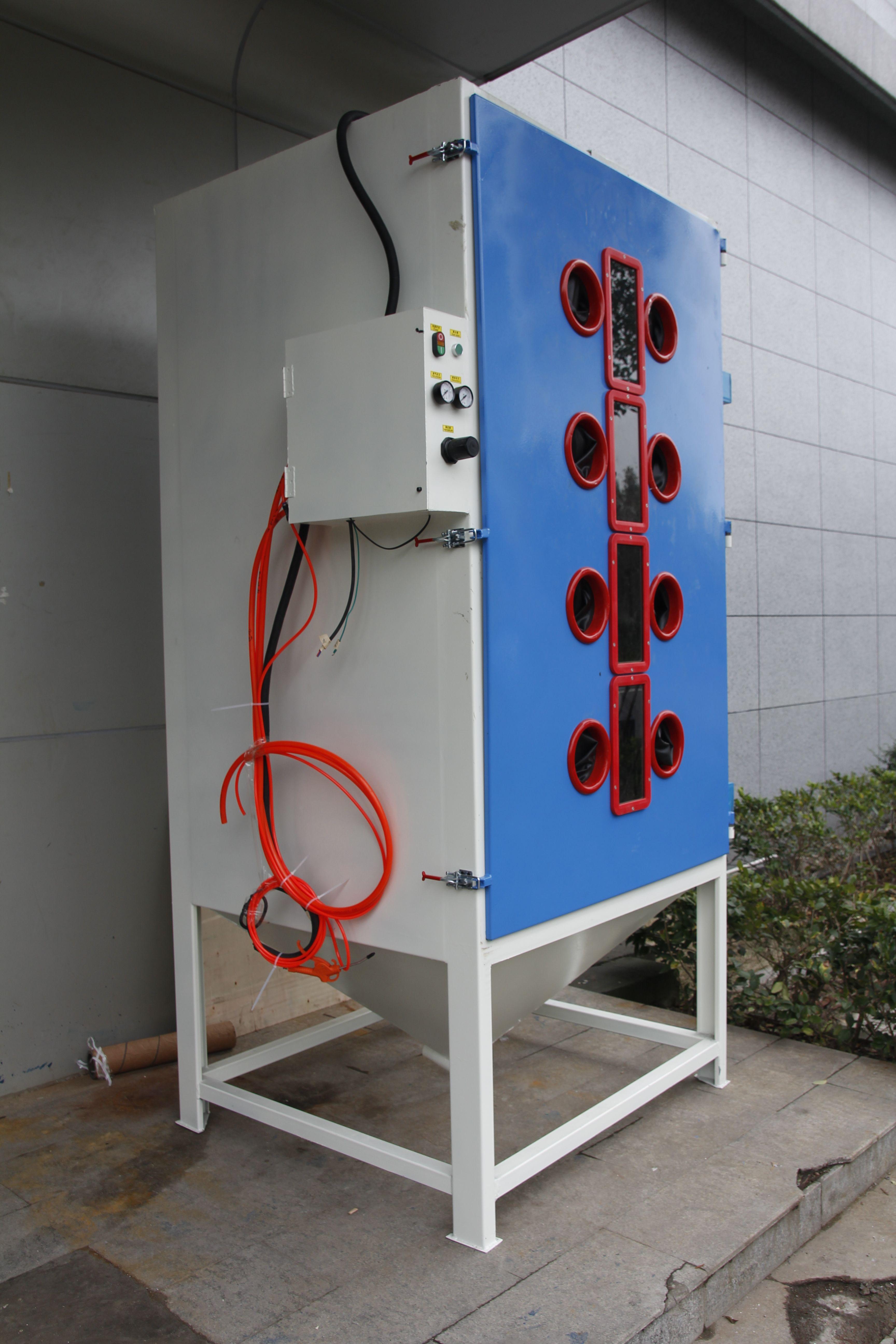 High pressure multistation sand blasting machine can