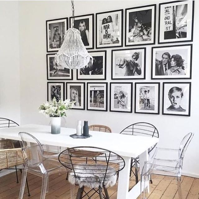 Iconic photo's/ Black and white photography gallery wall. Perfection // Repost from @deitea_tea // #Frame4Design