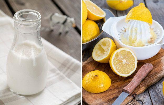 Buttermilk Milk Lemon Juice Food Wastage Ingredients Food