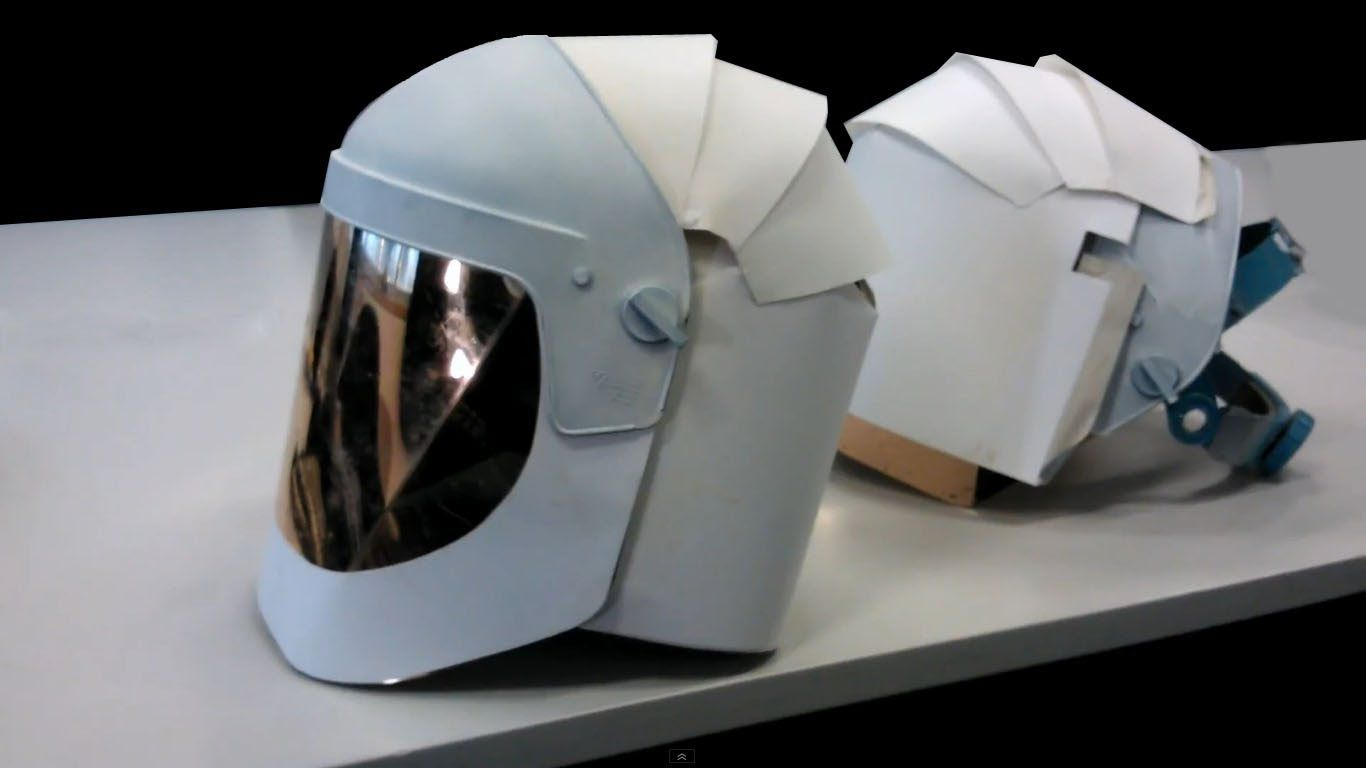 How to make a helmet made of paper