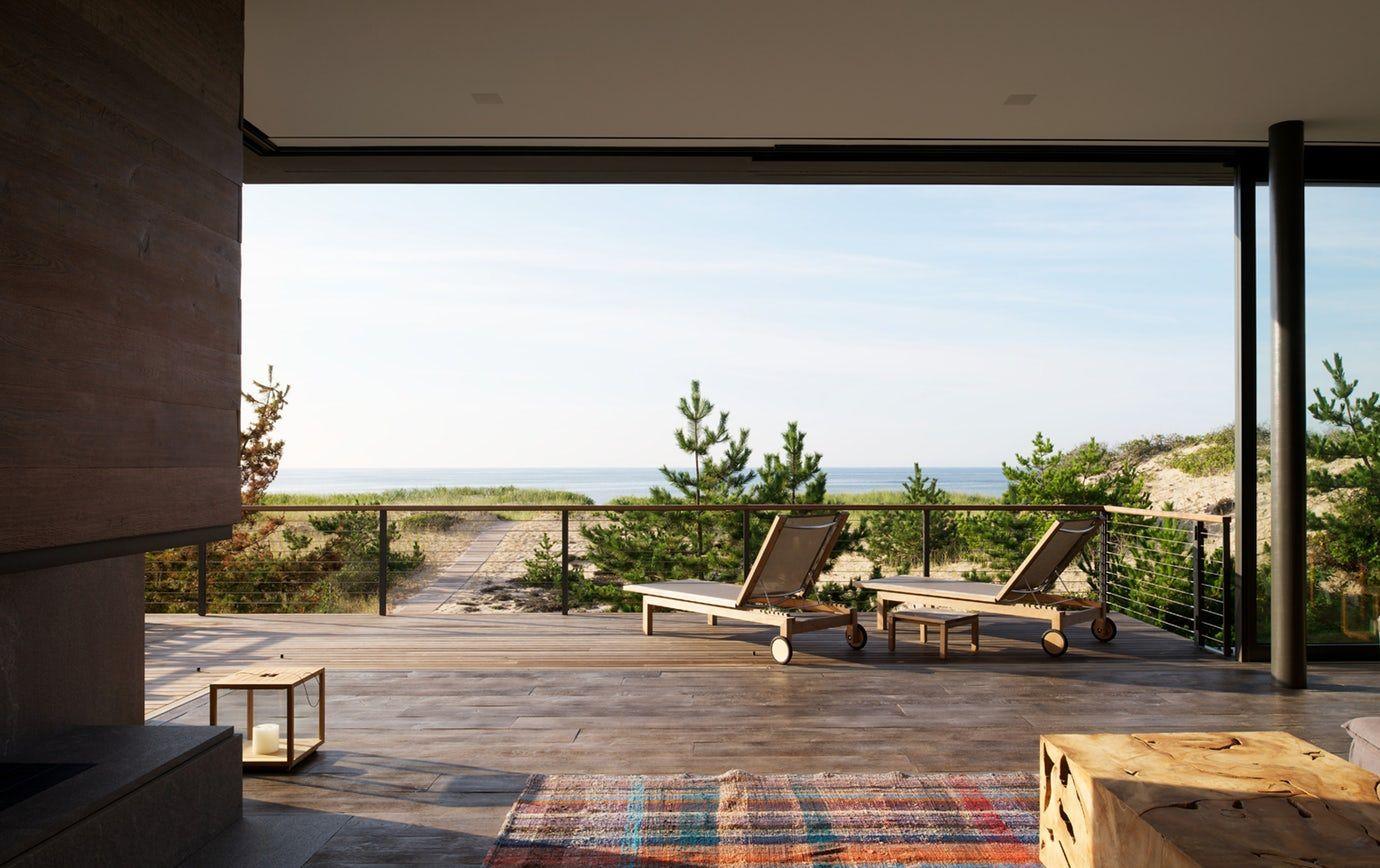 Shore residence living room great room modern by stelle lomont