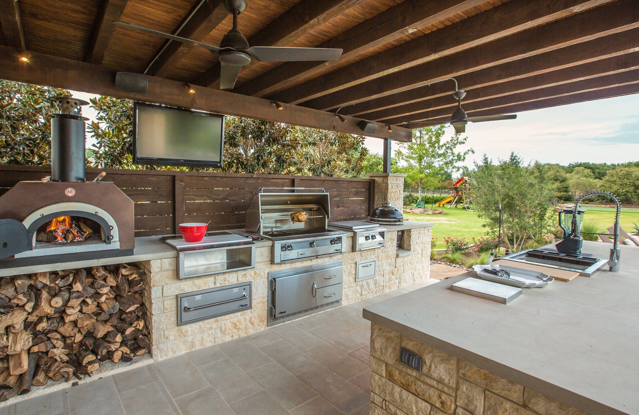 Terraza Cocina Moderna Al Aire Libre Asadores De Patio Parrilla Integrada