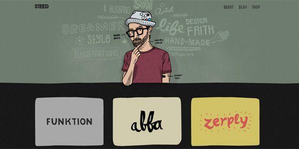 25 Examples Of Hand Drawn Elements In Web Design Graphic Design Portfolio Websites Web Design Trends Personal Website Design