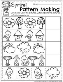 spring preschool worksheets preschool worksheets preschool worksheets kindergarten. Black Bedroom Furniture Sets. Home Design Ideas