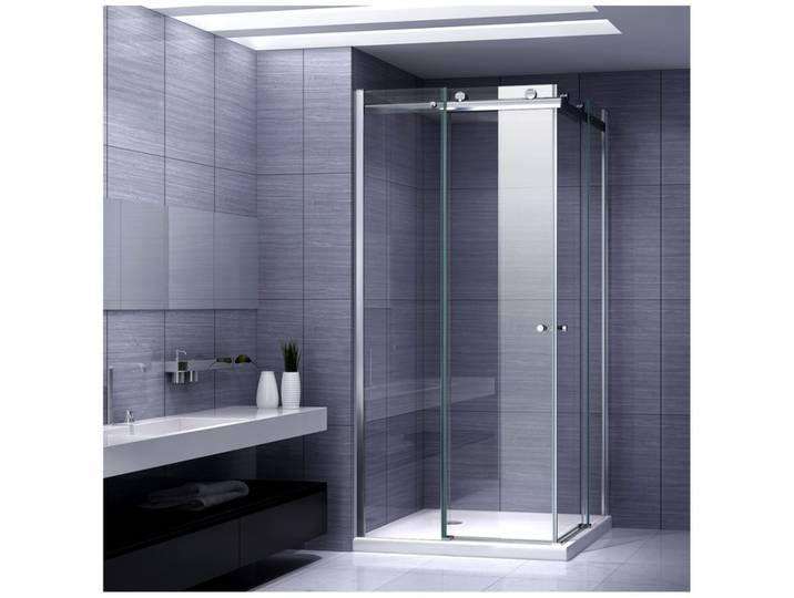 90 x 90 x 197 cm Duschkabine Eckeinstieg Dusche Falttür