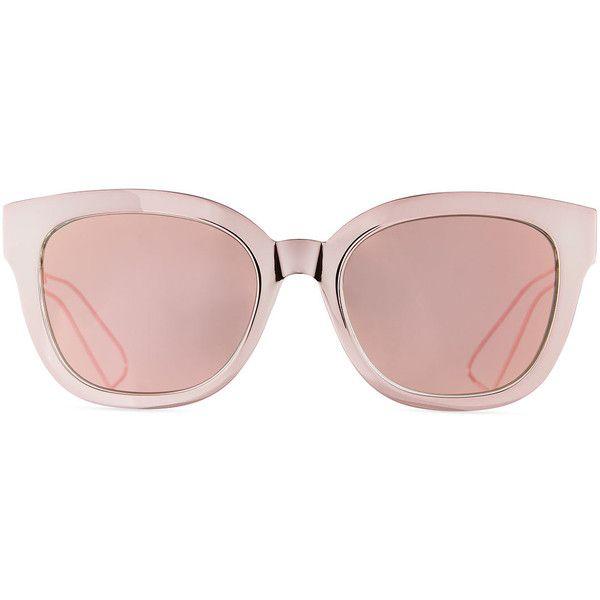 fcc40e77de55 Dior Diorama Caged Mirrored Sunglasses ($505) ❤ liked on Polyvore featuring  accessories, eyewear, sunglasses, christian dior, mirror sunglasses, ...