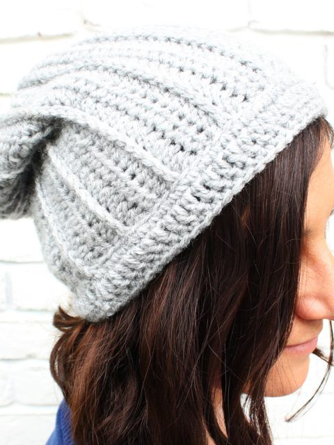 Free Crochet Hat Pattern Slouchy Beanie Hats Pinterest Free