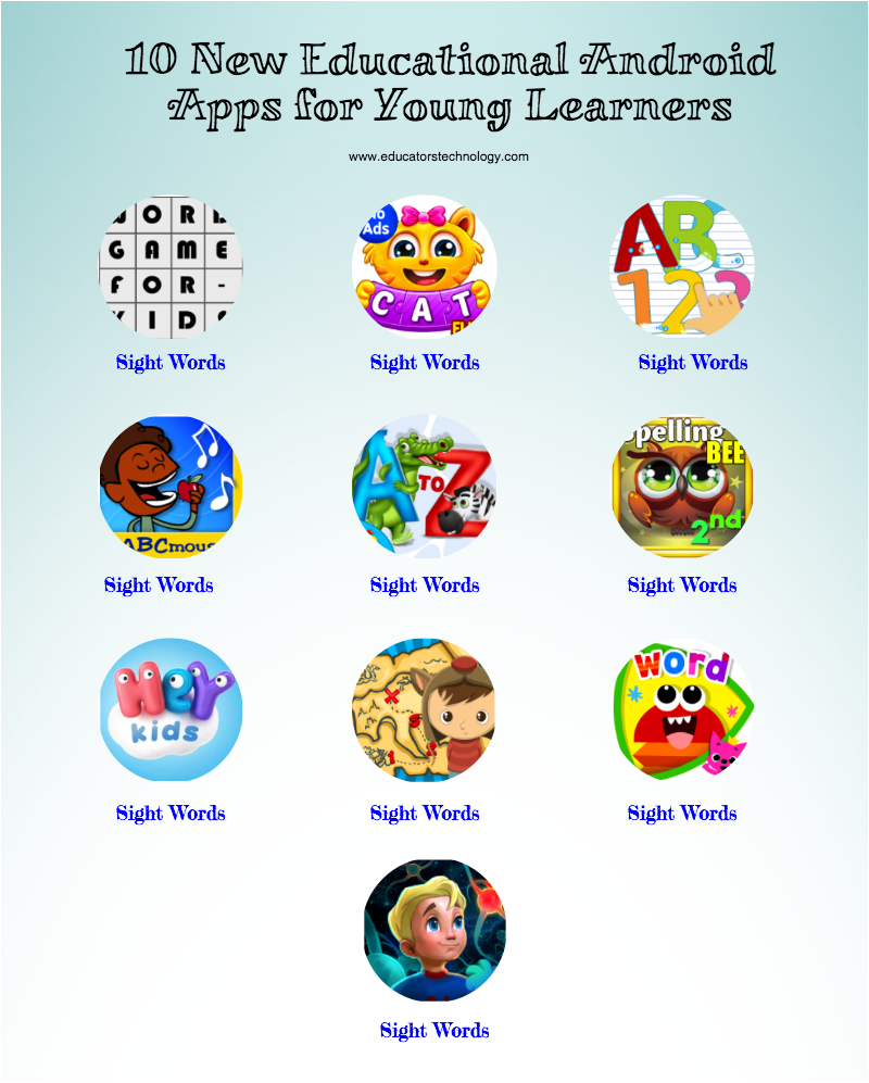 10 New Educational Android Apps For Young Learners Apps For